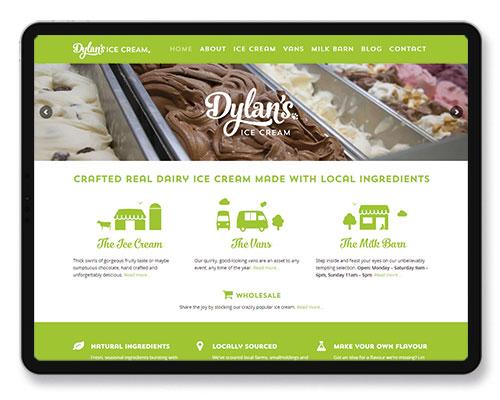 dylan ice cream website